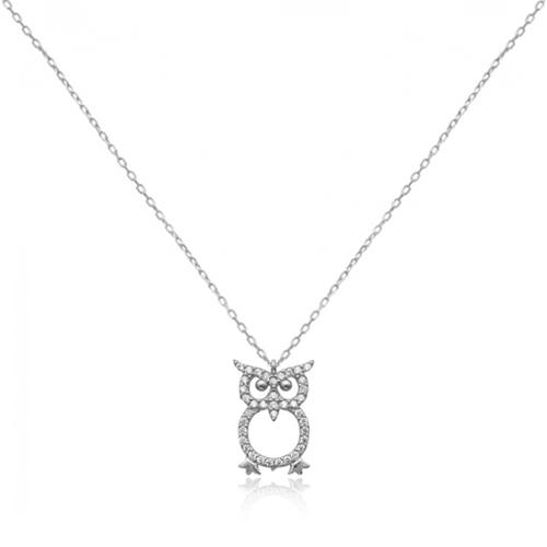 poklon za diplomu ili promociju srebrni lančić s privjeskom u obliku sove online trgovina