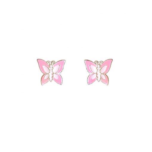 naušnice za djevojčice leptiri