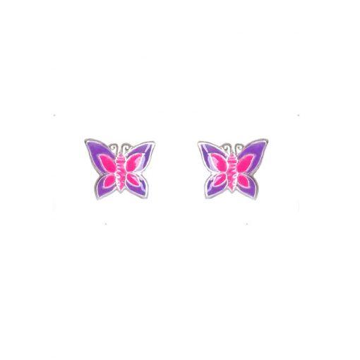 naušnice za djevojčice leptirići