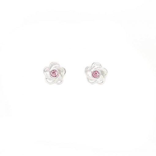 srebrne naušnice cvijet