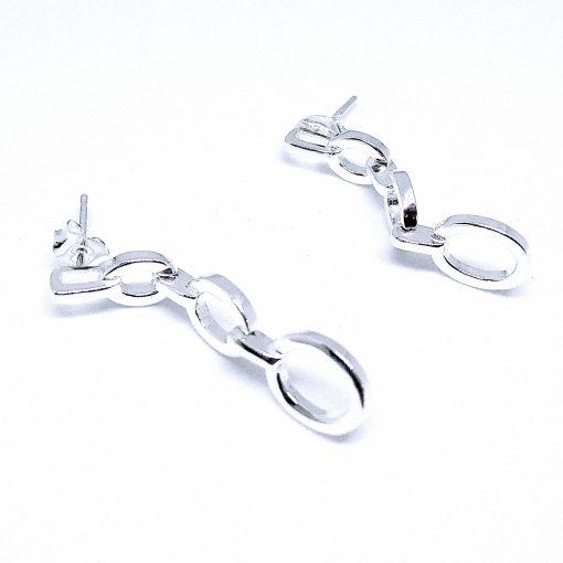 srebrne naušnice karike